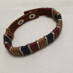 Jewelry - Leather banded cuff bracelet